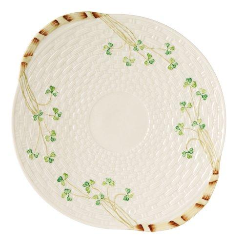 Belleek Group 0008 Shamrock Bread Plate, 11.25-Inch, - Novelty Belleek