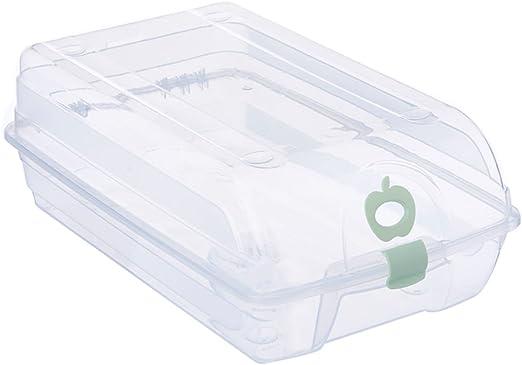 Ounona - Caja para zapatos, transparente, apilable, plástico, para ...