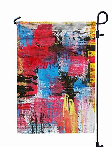 Shorping Welcome Garden Flag, 12x18Inch Handmade Abstract Texture