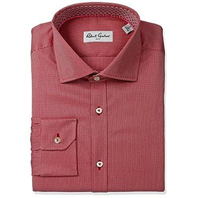 Cheap Robert Graham Men's Classic Fit Textured Solid Dress Shirt hot sale