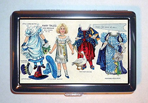 Victorian Paper Doll Fairy Tale Fantasy Art: ID Wallet or Cigarette Case USA Made -