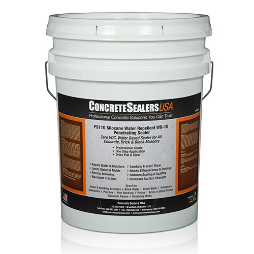 PS110 Siloxane Water Repellent WB-10 Penetrating Sealer (5 gal.) by Concrete Sealers USA