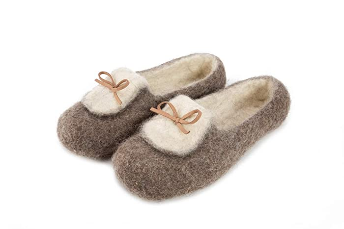 Felt Felted Wool Slippers Clogs House Shoes Mules Woman S Men S