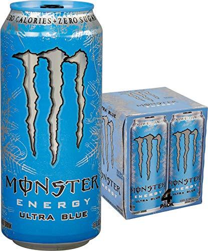 (Monster Energy, Ultra Blue, 16 fl oz, 4 Pack)