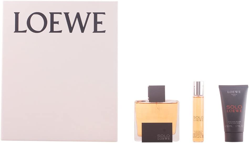 Loewe Solo Set de Agua de Colonia, Bálsamo Después del Afeitado y Agua de Colonia Mini - 145 ml: Amazon.es: Belleza