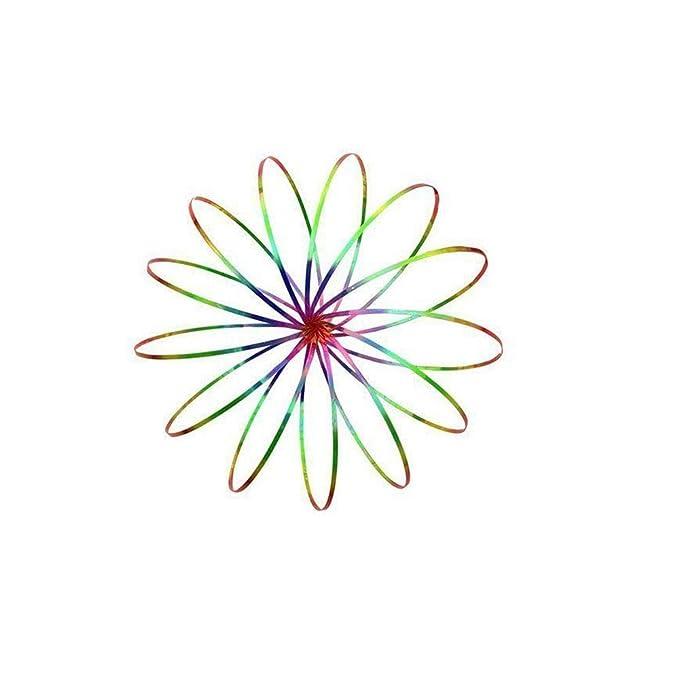 Amazon Com Funnyletric Flow Kinetic Spring Bracelet Rings 3d