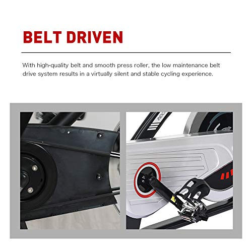 JOROTO Magnetic Resistance Exercise Bike Stationary Belt Drive Indoor Cycling Bikes Trainer Workout Cycle for Home 6