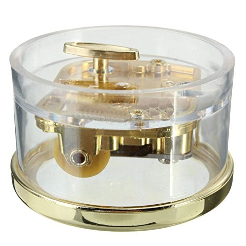 MAYMII Tiny Wind Up Circle in Gold DIY Musical Box Beautiful Melody Gift'' YOU ARE MY SUNSHINE''