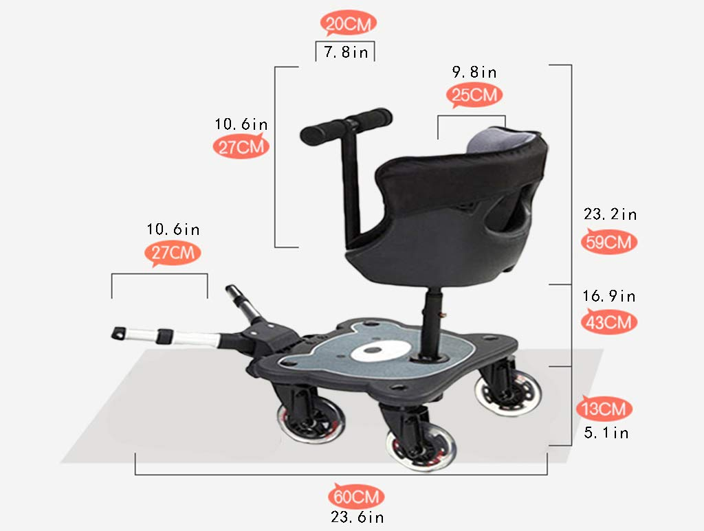 DGDG Buggy Board, Second Child Artifact Cart Pedal, Stroller Accessories, Travel Assisted Universal Trailer Trailer Pedal,Buggy Board by DGDG (Image #6)