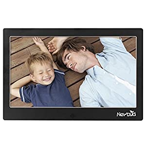 HD TFT-LCD Digital Photo Frame Electronic Frame Alarm MP3/4 Movie Player with Remote Desktop (10 inch-Black)