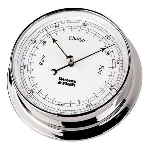 Endurance 085 Clock - WEEMS & PLATH Endurance Collection 085 Barometer (Chrome)