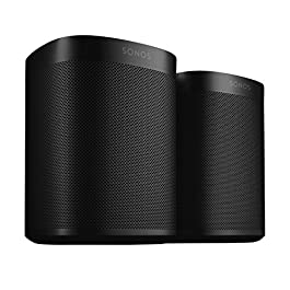 Two Room Set with Sonos One (Gen 2) – Voice Controlled Smart Speaker with Amazon Alexa Built-In – Black