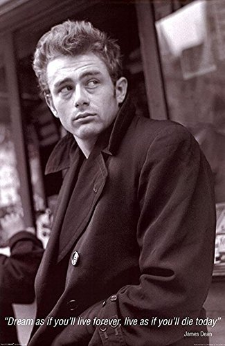 James Dean Quote   Dream As Youll Live Forever  Live As If Youll Die Today 36X24 Photograph Print Poster Celebrity Movie Star Icon Hollywood