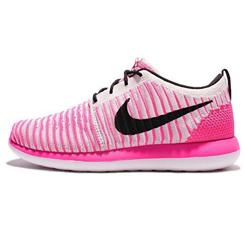 Nike Kids Roshe Two FlyKnit (GS) Running Shoes Pearl Pink/Black-pink Blast-white