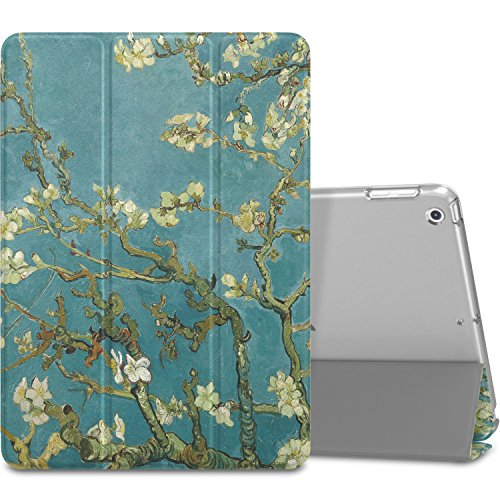 MoKo Case Fit 2018/2017 iPad 9.7 6th/5th Generation - Slim Lightweight Smart Shell Stand Cover with Translucent Frosted Back Protector Fit iPad 9.7