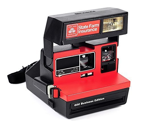 Polaroid RED Business 600 ''State Farm'' Edition Instant Camera with Strap by OLDCAMS
