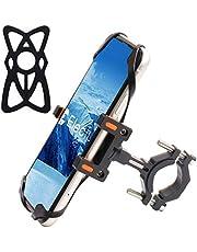 ELECFUN Motorcycle Phone Mount Bike Universal Cell Phone Holder Aluminum Bicycle Phone Holder Anti Shake & 360° Rotation, Fit Samsung Galaxy S9/S8 Plus/Google Pixel/iPhone, etc (Black)