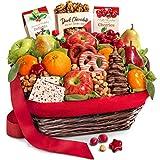 Golden State Fruit Holiday Chocolate Nuts & Fresh Fruit Gift Basket