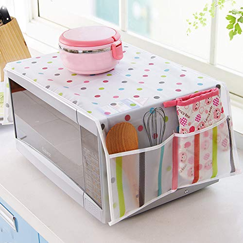 Gotian Household Waterproof Microwave Oven Dust Cover with Storage Bag for Kitchen (B) ()