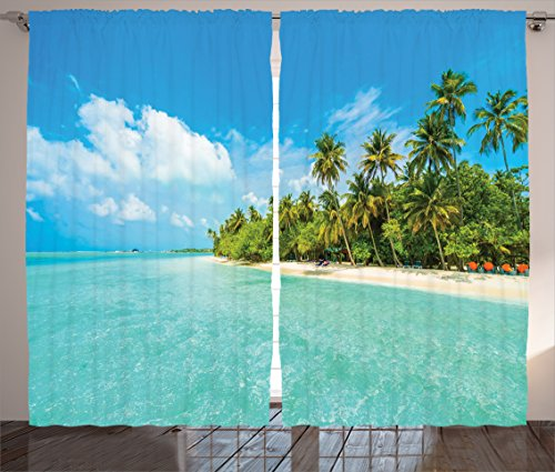 Ambesonne Collection Tropical Beach Turquoise