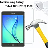 Samsung Galaxy Tab A 10.1 Screen Protector,DETUOSI® [9H Tempered Glass Technology] Premium Tempered Glass Screen Protector Film for Samsung SM-T580/T585 10.1 Inch Tablet(2016 Version,A6 10.1)