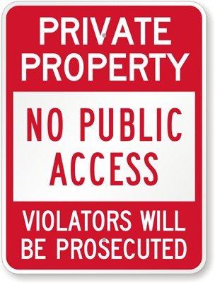 Amazon.com: Propiedad Privada, sin acceso público, violators ...