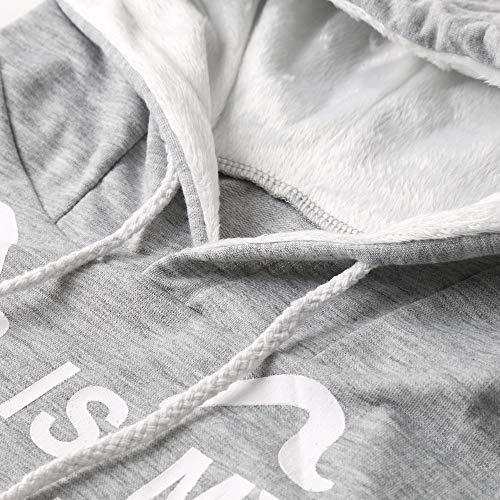 Tumblr Camicetta A Modello Con Autunno Anmain Bianco Manica Felpa Cime Hooded Lettere Gatto Felpe Di Cappuccio Pullover Lunga Donne Maglietta UEpxSwq