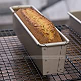"""Astra Gourmet Non-stick Slim Pound Cake Mold/ Loaf Pan Mould, 9""""x2""""x2.5"""","""