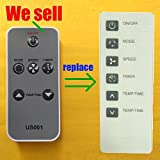 Replacement for Haier Air Conditioner Remote Control 0010401358A works for ESA408K-E ESA408K-L ESA408K-T ESA408M ESA408M-L ESA408M-T ESA410J ESA410J-E ESA410J-L ESA410J-T ESA410K ESA410K-E