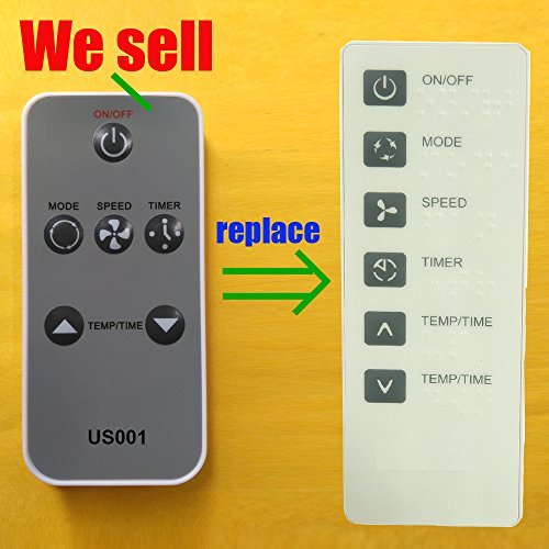 Replacement for Haier Air Conditioner Remote Control 0010401358A works for ESA408K-E ESA408K-L ESA408K-T ESA408M ESA408M-L ESA408M-T ESA410J ESA410J-E ESA410J-L ESA410J-T ESA410K ESA410K-E by Generic