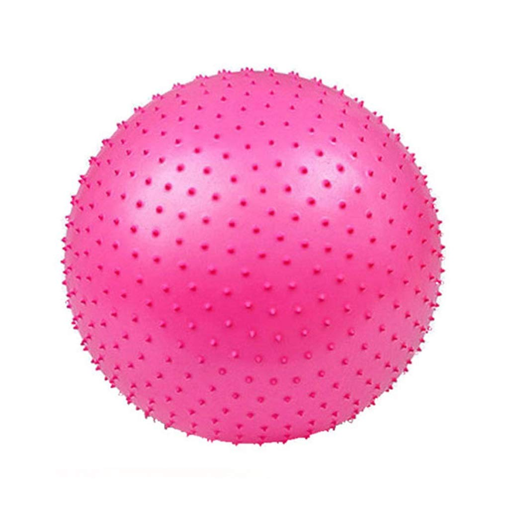 TMY Yoga Ball Fitness Massage Thickening Explosion-Proof Indoor Sports Balance Training Weight Loss Child Seat (Color : Pink, Size : 75cm)