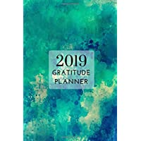 """2019 Turquoise Gratitude Daily Planner 4"""" x 6"""": Small Mini Calendar To Fit Purse & Pocket; Portable Monthly & Weekly Journal With Inspirational Quotes & Address Book; Suitable For Teachers & Students"""