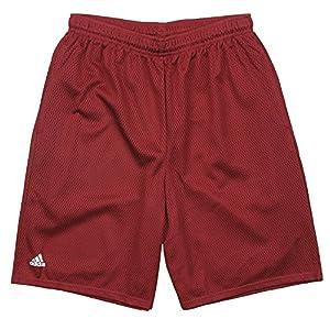 adidas Men's Mesh Double Layer Front Pocket Shorts – Maroon Wine