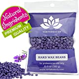 Hair Removal Without Wax - Wax Beans - Hard Wax Beads for Hair Removal - Brazilian Eyebrow Home Body Wax for Men Women