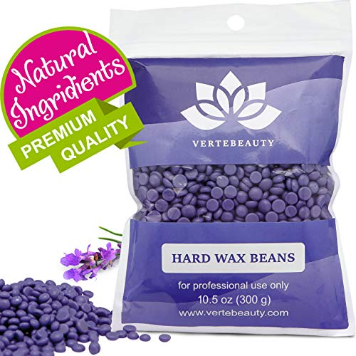 Wax Beans - Hard Wax Beads for Hair Removal - Brazilian Eyebrow Home Body Wax for Men Women