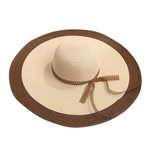 hositor Beach Hat, Ladies Women Wide Brimmed Floppy Foldable Summer Sun Beach Hat