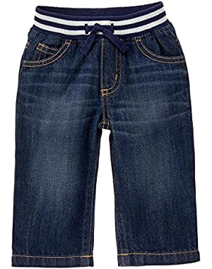 Baby Boy's Denim Pull On Jeans