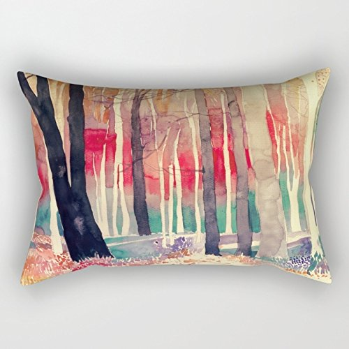 KooNicee Watercolor Throw Pillow Case ,best For Home,kids Girls,teens,father,living Room,wife 12 X 20 Inches / 30 By 50 Cm(double Sides)
