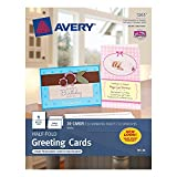 Avery Half-Fold Greeting Cards JOzsz for Inkjet Printers, 5.5 inches x 8.5 inches, White, Matte, 20 Count (4 Pack)