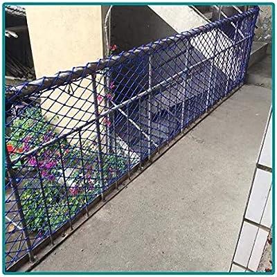 Red de Protectora para Niños Al Aire Libre Escalera de Rejilla Balcón Red Seguridad Techo Decor Malla Red de Cuerda Red de Escalada Red de Seguridad Red de Carga, Azul 5cm/6mm: Amazon.es: