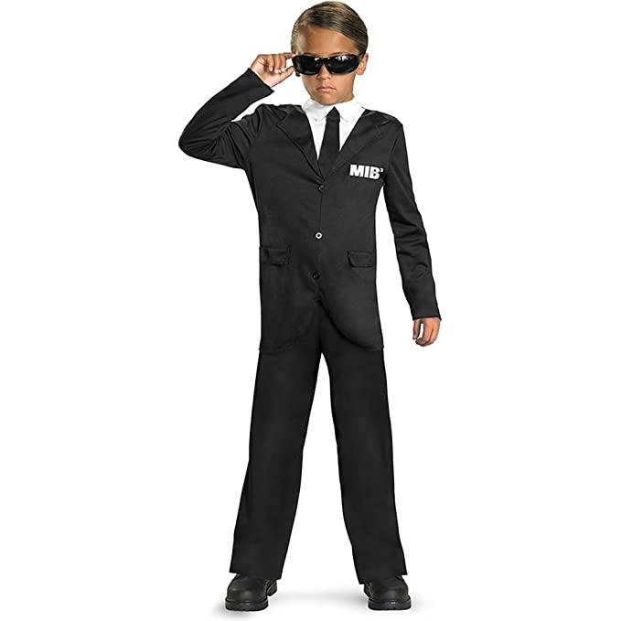 Disguise Inc Boys Men In Black Costume