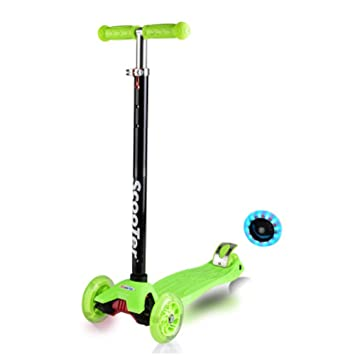 Nclon Niños Patinetes 3 Ruedas,Luces leds Luminosas Scooter ...