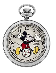 Ingersoll Unisex IND 25834 Ingersoll Mickey Mouse 30's Collection Silver-Tone Pocket Watch