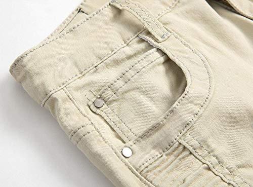 Skinny Da Stonewashed Khaki Fit Regular Usati Jeans Denim Uomo Pantaloni x4dqY0w4