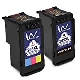 Vividcolor Remanufactured Canon PG-245xl 245 CL-246xl 246 Ink Cartridges 1 Black 1 Color High Capacity for Canon Pixma MG2920 MX492 MG2520 IP2820 MG2922 MG2420 MG2522 MG2525 MG3020 MX490 Printer