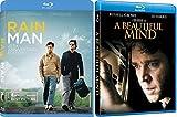 A Beautiful Mind + Rain Man Blu Ray ACADEMY AWARDS Wining Brilliant minds movie Set