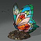 RXY-LAMP Butterfly Light European Retro Glass Butterfly Light Living Room Bedroom Study Night Light Energy Saving Eye Art Light (Size : 20x13x23cm)