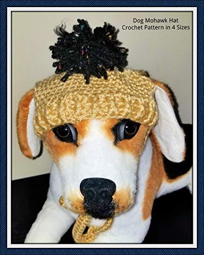 Dog Mohawk Hat Crochet Pattern  in 4 -