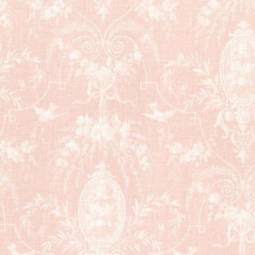 Wallpaper Blush - Beacon House 302-66815 Flourish Cameo Fleur Wallpaper, Blush