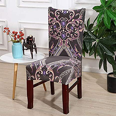 Amazon.com: Chair Covers Spandex Dining Chair Cover Removable Anti ...
